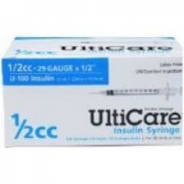 Ulticare Insulin Syringes 29 Gauge, 1/2cc, 1/2