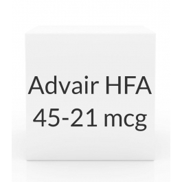 Advair HFA 45-21 mcg Inhaler (120 Dose -12g)***MANUFACTURER BACKORDER UNTIL MID AUG 2016***