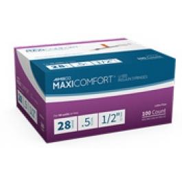 AIMSCO MaxiComfort Insulin Syringe 28 Gauge, 1/2cc, 1/2