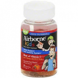 Airborne Immune Support Supplement with Vitamin C, Gummies for Kids- 21ct