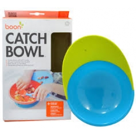 Boon Catch Bowl with Spill Catcher Green/Blue