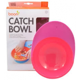 Boon Catch Bowl with Spill Catcher Pink/Purple