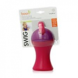 Boon Swig Tall Flip Top Sippy Cup, 10 Ounce, Pink/Purple