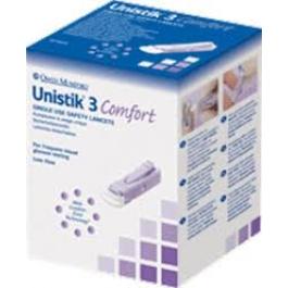 Unistik 3 Gentle Lancets 28G- 50ct