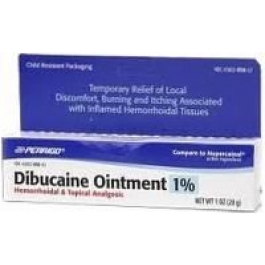 Dibucaine 1% Ointment - 28gm Tube