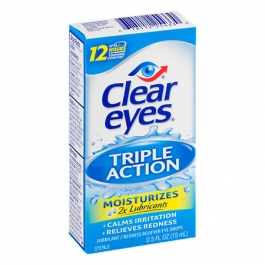 Clear eyes Triple Action Relief Lubricant/Redness Reliever Sterile Eye Drops - 0.5 fl oz