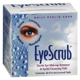 Eye Scrub Sterile Eye Makeup Remover & Eyelid Cleansing Pads - 30ct