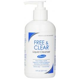 Free & Clear Liquid Cleanser for Sensitive Skin - 8oz