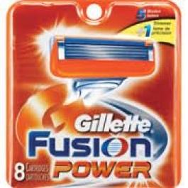 Gillette Fusion Power Razor Blades - 8 Cartridges
