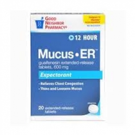 GNP® Mucus Expectorant ER 600mg Tablets- 100ct