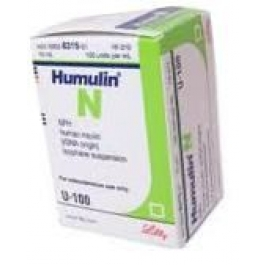 Humulin N, 100 units/ml - 3 ml Vial