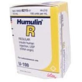 Humulin R, 100 units/mL - 10 mL Vial