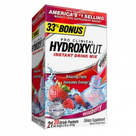 Hydroxycut Pro Clinical Weight Loss Dietary Supplement Powder,  Wildberry- 21ct