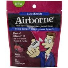 Airborne Immune Support Supplement with Vitamin C Lozenges- 20ct