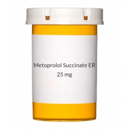 Metoprolol Succinate ER 25mg Tablets (Generic Toprol XL)