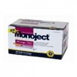 Monoject Insulin Syringe 29 Gauge, 3/10cc, 1/2