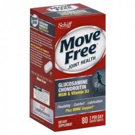 Schiff Move Free Advanced plus MSM & Vitamin D3 Tablets- 80ct