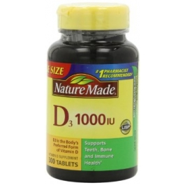 Nature's Made Vitamin D-3 1000 IU Tablets - 300ct