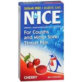 N'ice Sugar Free Lozenges, Cherry- 24ct