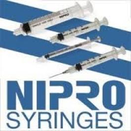Nipro Syringe 22 Gauge, 3cc, 1 1/2