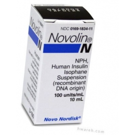 Novolin N Insulin 100 Units/mL 10mL Vial