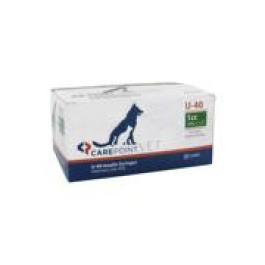 Carepoint Veterinary U-40 Insulin Syringe 29 Gauge, 1cc, 1/2