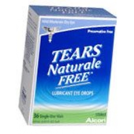 Tears Naturale Free Lubricant Eye Drops Single Use Vials - 36***MANUFACTURER BACKORDER UNTIL MID AUGUST***