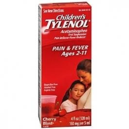 TYLENOL® Children's Pain & Fever, Ages 2-11, Cherry Blast- 4oz
