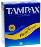 Tampax Tampons Flushable Applicator Regular Absorbency - 20