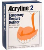 Acryline 2 Temporary Denture Reliner 1 Each