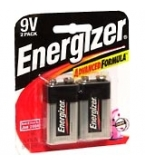 Eveready Battery Energizer 9V  2/Pk