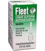 Fleet Glycerin Laxatives Adult 4 ct