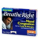 Breathe Right Strip Tan Large 12 ct