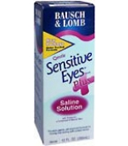 Bausch & Lomb Sensitive Eyes Plus Saline Solution 12 oz