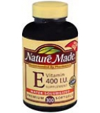 Nature Made Vitamin E 400 I.U. Softgels Water Solubilized 300ct