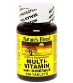 Natures Blend Multi-Vitamin With Minerals Tablets 100ct