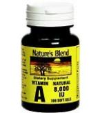 Natures Blend Vitamin A 8000 I.U. Softgels 100ct