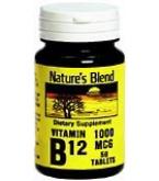 Natures Blend Vitamin B12 1000 mcg Tablets 50ct