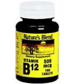 Natures Blend Vitamin B12 500 mcg Tablets 100ct