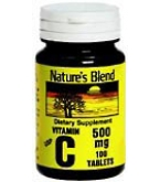 Natures Blend Vitamin C 500 mg Tablets 100ct