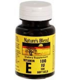 Natures Blend Vitamin E 100 I.U. Softgels 100ct