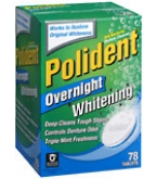 Polident Overnight Tablet 78ct- BACK ORDERED 8-13
