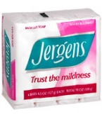 Jergens Bath Size Soap 4-Pack White  18 oz