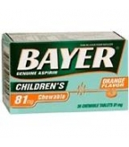 Bayer Aspirin Child Orange Tablet 36ct****OTC DISCONTINUED 3/5/14