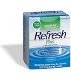 Refresh Plus Sensitive Lubricant Eye Drops Single-Use Containers 30ct