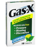 Gas-X Chewable Tablets Extra Strength Peppermint Creme 18ct****OTC DISCONTINUED 2/28/14