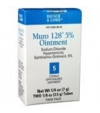 Muro-128  5% Eye Ointment 2X3.5Gm***MFG CURRENTLY EXPERIENCING PROD. ISSUES..TO BE RESOLVED 5/2/14