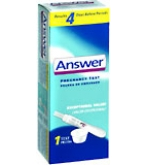 Answer Pregnancy Test 1 Each****OTC DISCONTINUED 3/4/14