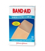 Band-Aid Sheer Bandage Extra Large - 10***otc Discontinued  2/25/14