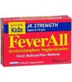 Feverall 325Mg Junior Suppository 6ct